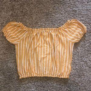 Striped Off The Shoulder Shirt